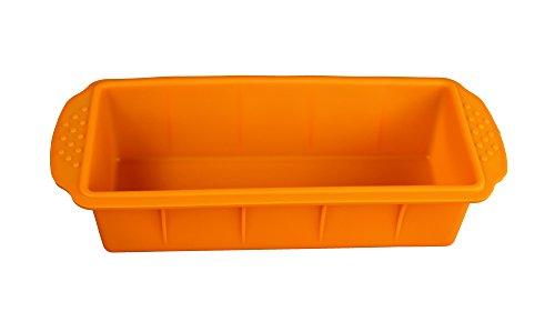 GMMH Original Molde de Silicona para Hornear con Forma de cajón Rectangular - Naranja