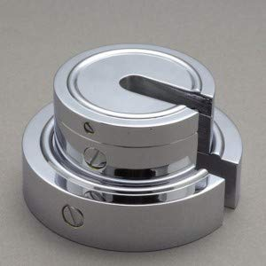 新光電子(大正天びん) 増おもり型分銅 (黄銅クロムメッキ) F2級(1級) 2kg F2SB-2K