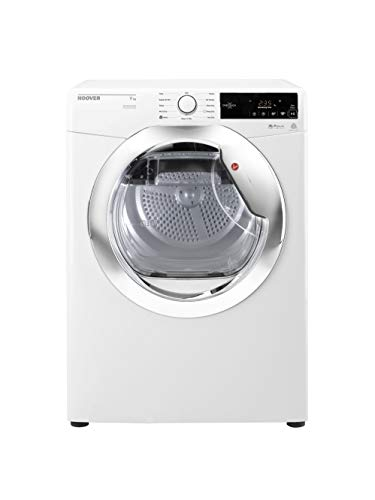 Hoover DX C9TCE Freestanding Condenser Tumble dryer with Aquavision, NFC Connected, 9Kg Load, White