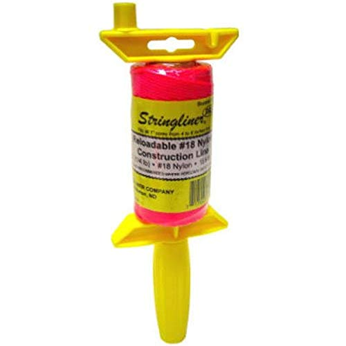 STRINGLINER Company Available 25162 Braided 250-Feet Reloadable Line Reel, Fluorescent Pink
