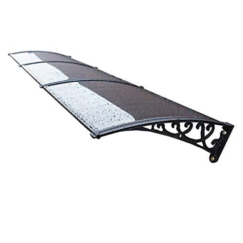 Lw Canopies Vordach Türdach for Draußen Pultbogenvordach Überdachung Polycarbonat. (Size : 80×360cm)