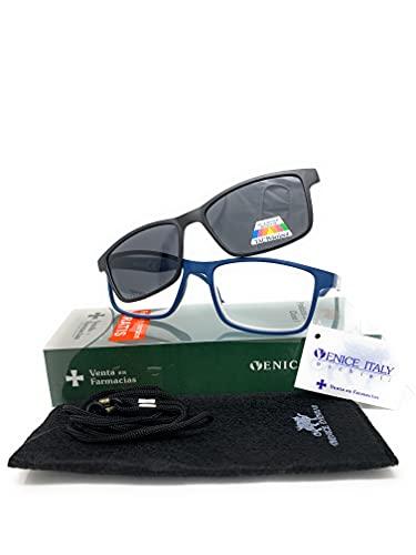 Gafas de lectura 2 en 1 . SUPLEMENTO POLARIZADO IMAN unisex Venice. Protege tus ojos de la fatiga y del sol.
