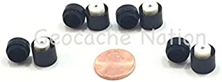 Magnetic Nano Geocache Container Micro Cache - Black: 4 Pack & 4 Paper Rolls incluced