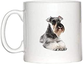 11 Ounces Coffee Mug, Coffee Mug Schnauzer Image Design Espresso Ceramic Mug 11Oz Ceramics