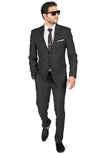 Kenneth Cole REACTION Men's Premium Stretch Texture Weave Slim Fit Dress Pant, Black, 32Wx30L