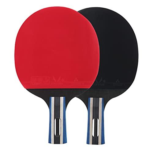 LINGOSHUN Juego de Raquetas de Ping Pong,Aprobado por la ITTF, 2 Paleta de Ping Pong para Principiantes,Juegos Familiares,Entretenimiento / 2 Stars/B