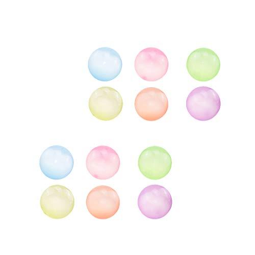 Milageto 12 Piezas de Bola de Burbuja Inflable Firme Juguete de Familias Elásticas Suaves para Interiores Y Exteriores