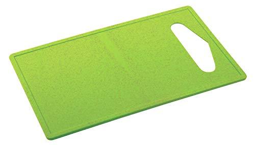 TOPICO CHOPY Tabla de cortar, Bambú y plástico, verde
