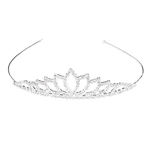 Cristal de la corona de los aros del pelo de la boda...