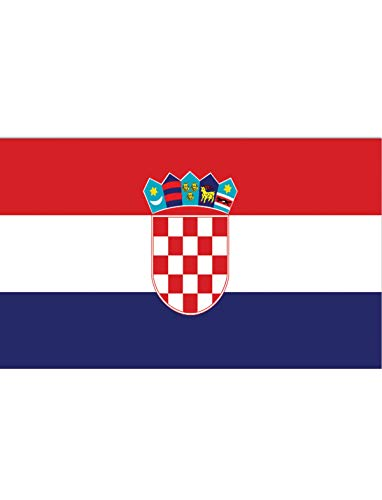"TrendClub100® Fahne Flagge ""Kroatien Croatia HR"" - 150x90 cm / 90x150cm"