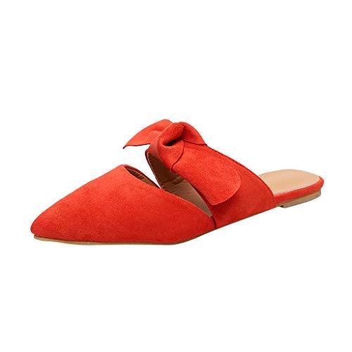 LuckyGirls Pantoufles à l'arc Pointu pour Femmes Occasionnels d'été Chaussures Pantoufles de Plage Sandales