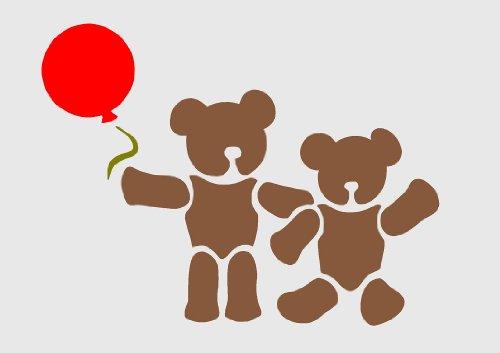 Teddybär, A3, Airbrush, Wanddeko, Schablone, Wiederverwendbar, Aus Mylar Re 125 micron für A3