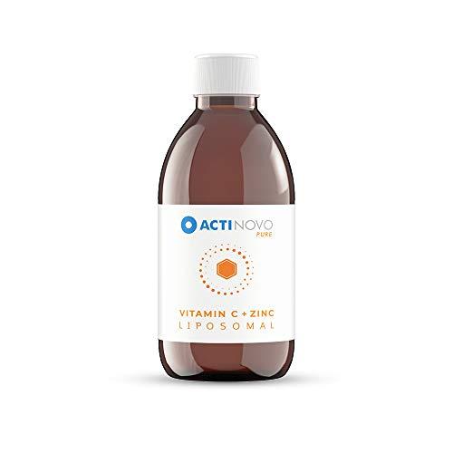 Vitamin C + Zink liposomal | Sanddorn 250 ml PURE | hochdosiert | für dein Immunsystem | Tagesdosis 25 mg Zink | hohe Bioverfügbarkeit | flüssig | ohne Zusätze | vegan