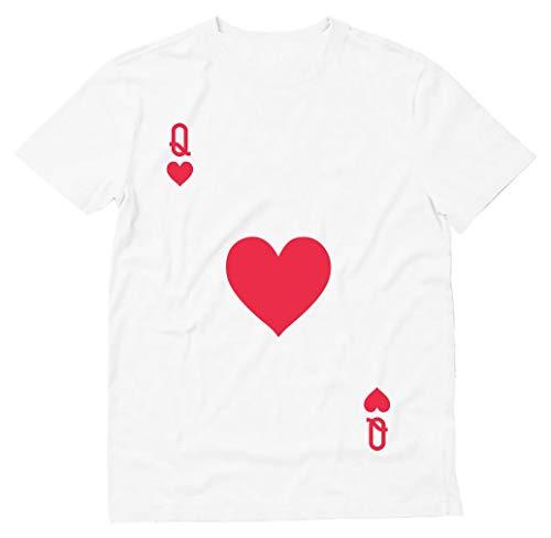 Tstars - Camiseta de fantasia de Halloween fácil de cartas Rainha de Copas, Branco, M