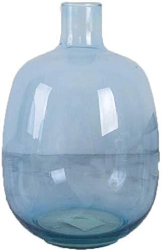 Blauwe transparante glazen vaas Droog Bloem/Kunstmatige Bloem Bloem Arrangeur for Home/Office Decoratie zonder bloemen (Color : Small)