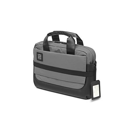 Moleskine ID Collection Cartella da Lavoro Professionale, Borsa Porta PC con Tracolla per Laptop, iPad e Notebook fino a 15'', Dimensioni 40 x 13 x 29 cm, Grigio Ardesia