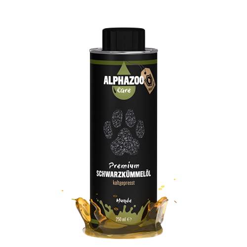 alphazoo Premium Schwarzkümmelöl für Hunde, natürlich kaltgepresst und reich an ungesättigten Fettsäuren, unterstützt das Immunsystem und sorgt für mehr Vitalität