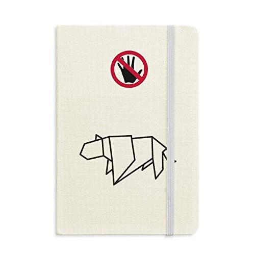 Resumen de Origami Tiger Geometric Shape Secret Notebook Classic Diary Diary A5