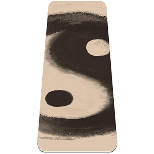 Esterilla Yoga,Yin yang chino ocho diagramas ,Esterilla Deporte Antideslizante Ecológica y 100% Natural de,No tóxico,para Pilates,Fitness