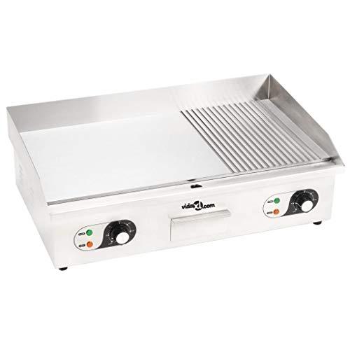 vidaXL Plancha Électrique Acier Inoxydable 4400 W Barbecue Grill de Table