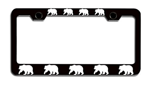 bear license plate frame - 8