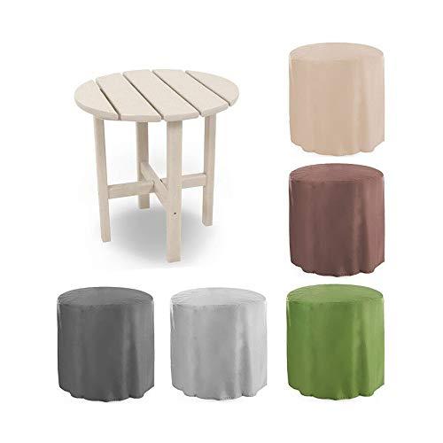 Nobrannd Muebles Cubierta de Polvo Balcón Jardín Pequeño Mesa de Cubierta Impermeable al Aire Libre Muebles de Guardapolvos Mesa Redonda Cubierta Opcional Multicolor Fundas para Muebles