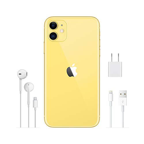 Apple iPhone 11 (64GB) - Gelb (inklusive EarPods, Power Adapter)
