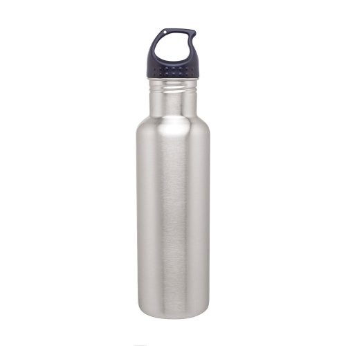 Simply Green Solutions Stainless Steel Water Bottle Canteen - 24oz. Capacity - Brushed Stainless