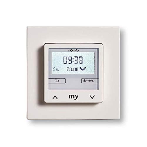 Somfy Chronis Smoove UNO S 1805283 Pure White+ S.Rahmen Zeitschaltuhr für Installationsschalterprogramme 3660849544430