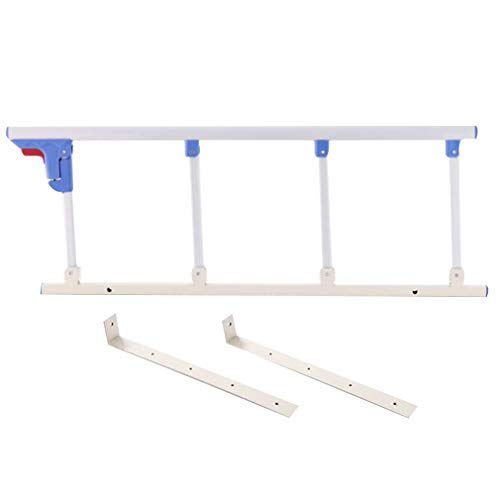 HLMIN Tragbar Medizinisch Bettgitter, Faltbar for die Älteren, Erwachsene, Kinder Sicherheitsschutz Krankenhaus Bar Stoßstange, Weiß (Color : Length 120CM)