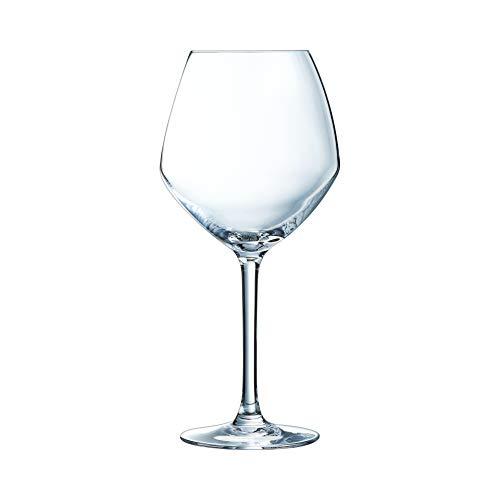 Chef&Sommelier - Set of 6 Cabernet Young Wines Krysta Stemmed Glasses - Elegant Tasting Glasses and Durability - Complete Transparency - Wine Glasses - 58 cl