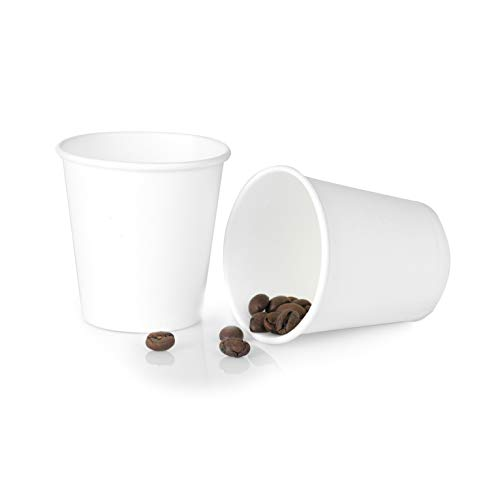100/200/300/500/1000/2000 Piezas 80 ml Vasos de Café de Papel Vasos Desechables de Café para Llevar Vasos de Café de Papel Biodegradables Reciclable Compostable Tazas de Café de Papel