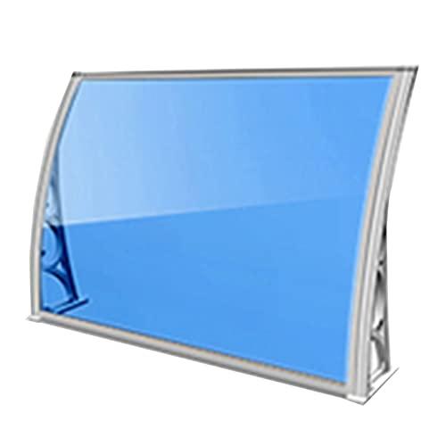 Lw Shelf Marquesina para Puertas Ventanas toldo,toldo para Puerta de policarbonato para PC,toldo para Porche Trasero Delantero de Refugio al Aire Libre,Dos Paneles Azules (Size : 80x200cm)