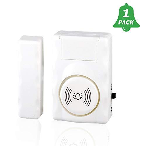 NFYYU Tür-/Fenster-Sensor, Alarmfunktion, magnetischer Sensor, Einbrecher, Diebstahlschutz, Alarm erkennt geöffnete und geschlossene Klingeltöne für Zuhause, Geschäft, Garage