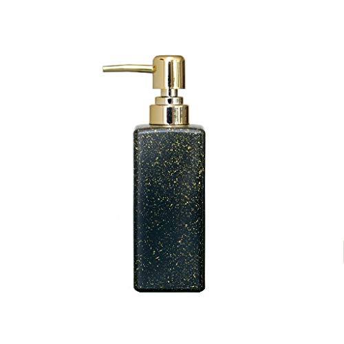 Nostalgie Manual Dispensador de Jabón Círculo Cuadrado Dot Retro Vidrio Dispensador de Líquidos de Plástico PresióN Principal de Cabeza de AplicacióN de Cauctores 350ml Botella de líquido