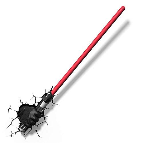 JYZ Star Wars Darth Vader und Darth Vader Hand 3D dekorative kreative Wandlampe