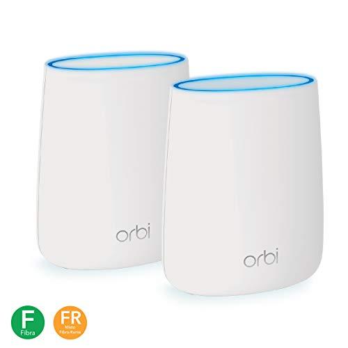 Netgear Orbi RBK20 WiFi Mesh potente AC2200, 2 unità per case su un piano o multipiano, copertura wifi fino a 200mq