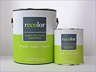 RECOLOR Paint 100% Recycled Interior Latex Paint Wall Finish, 1 Quart, Interior - Winter White (Semi-Gloss)