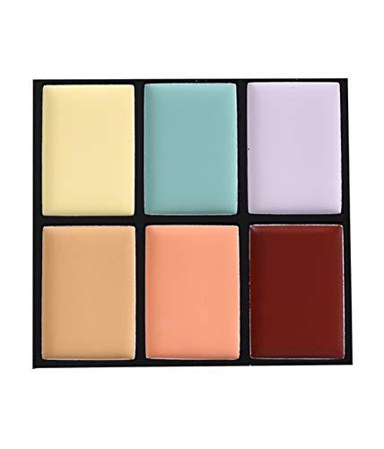 WYNIE Paleta de Correctores y Contorno Cream Palette Contour & Correct Concealer Maquillaje Corrector Verde Ojeras Cobertura Modulable Tono 002-10 g
