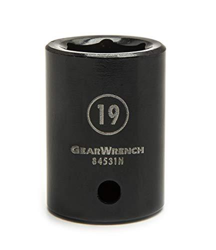 "GEARWRENCH 39 Pc. 1/2"" Drive 6 Pt. Impact Socket Set, Standard & Deep, SAE - 84947N, Black"