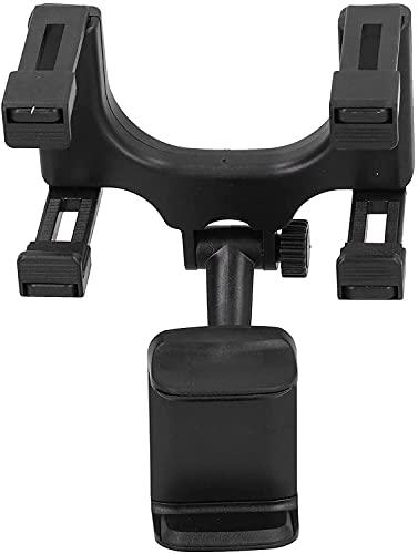 NYZXH Titulaire de téléphone, Stabilité Structure Rétroviseur Miroir Clip Téléphone Universal 360 ° Matériel ABS Rotatif pour la Voiture (Color : Default)
