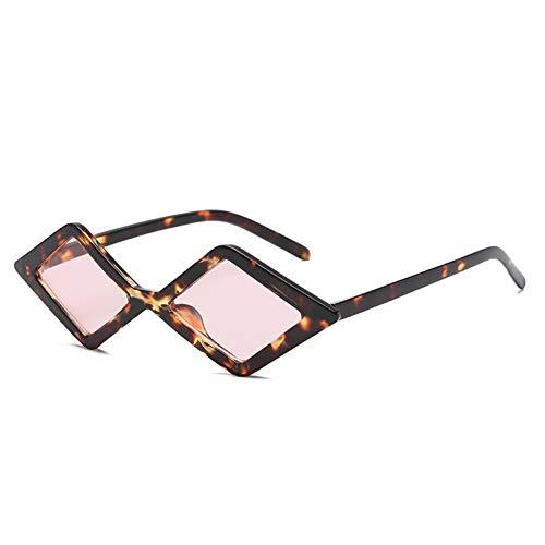Chudanba Gafas de Sol diminutas para Mujer Marco prismático Ojo de Gato pequeño Gafas de Sol Color...