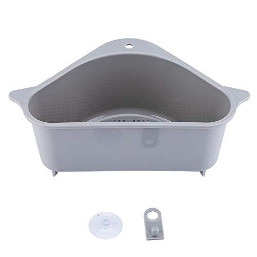 Triangular Sink Drain Shelf Drain Rack Multifunctional Storage Holder Sucker ,