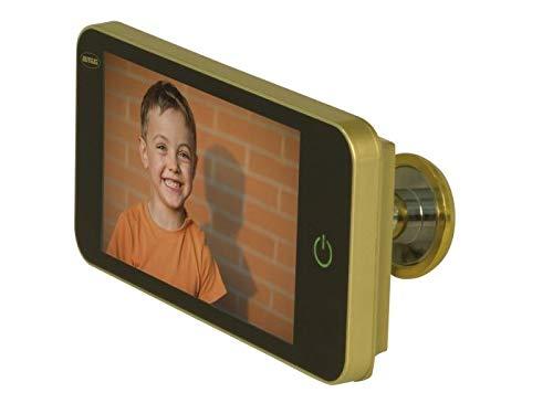Amig - Mirilla Digital para Puertas con Pantalla LCD 4'' DW 4.0 HD Oro, Dorado (D) | Visor con Cámara de Vídeo Que Proporciona Visión de Imágenes Claras | De Fácil Instalación y Uso