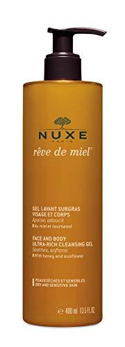 Nuxe Rêve de Miel –Reinigungsgel für trockene Haut – Gesichts- und Körperpflege (1 x 400 ml)