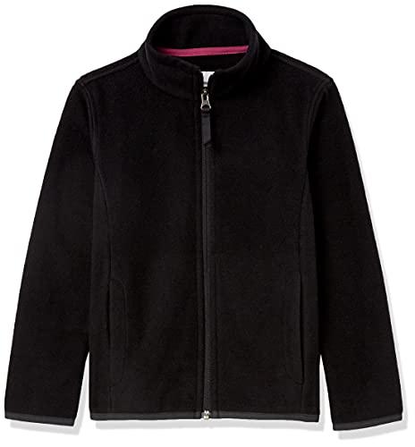 Amazon Essentials Full-Zip Polar Fleece Jacket Outerwear-Jackets, Negro, S