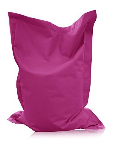 alibey Rechteckig Sitzsack Kinder Bean Bag Riesensitzkissen 15 Farben Sitzkissen Indoor Outdoor Sessel (XXXXL = 200 x 145, Pink)