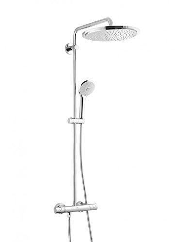 GROHE Euphoria System 310 | Brause- & Duschsystem - mit Thermostatbatterie, Kopfbrause, Handbrause u. Brauseschlauch | chrom | 26075000