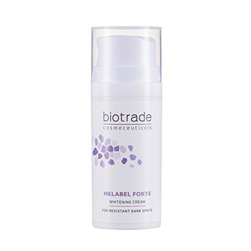 Melabel Forte Aufhellende Gesichtscreme 30 ml mit Koji- und Phytinsäure und Vitamin C Hellt Hartnäckige Dunkle Flecken auf von Biotrade