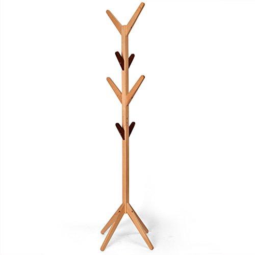 SKC Lighting-Porte-manteau Porte-manteau en bois massif Porte-pendules simple Porte-vêtements moderne Chambre à coucher Salon (Couleur : Couleur)
